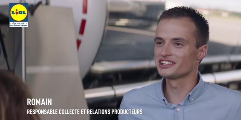 Romain, responsable collecte et relations producteurs LIDL France